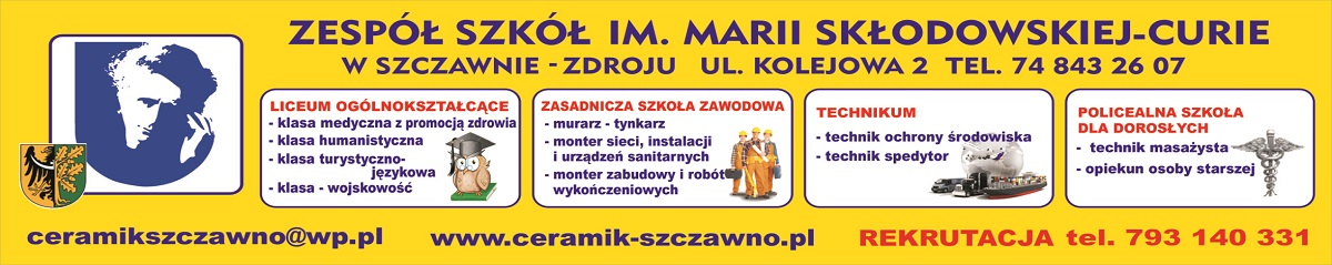 Zespół Szkół im. M.Skłodowskiej-Curie w Szczawnie-Zdroju